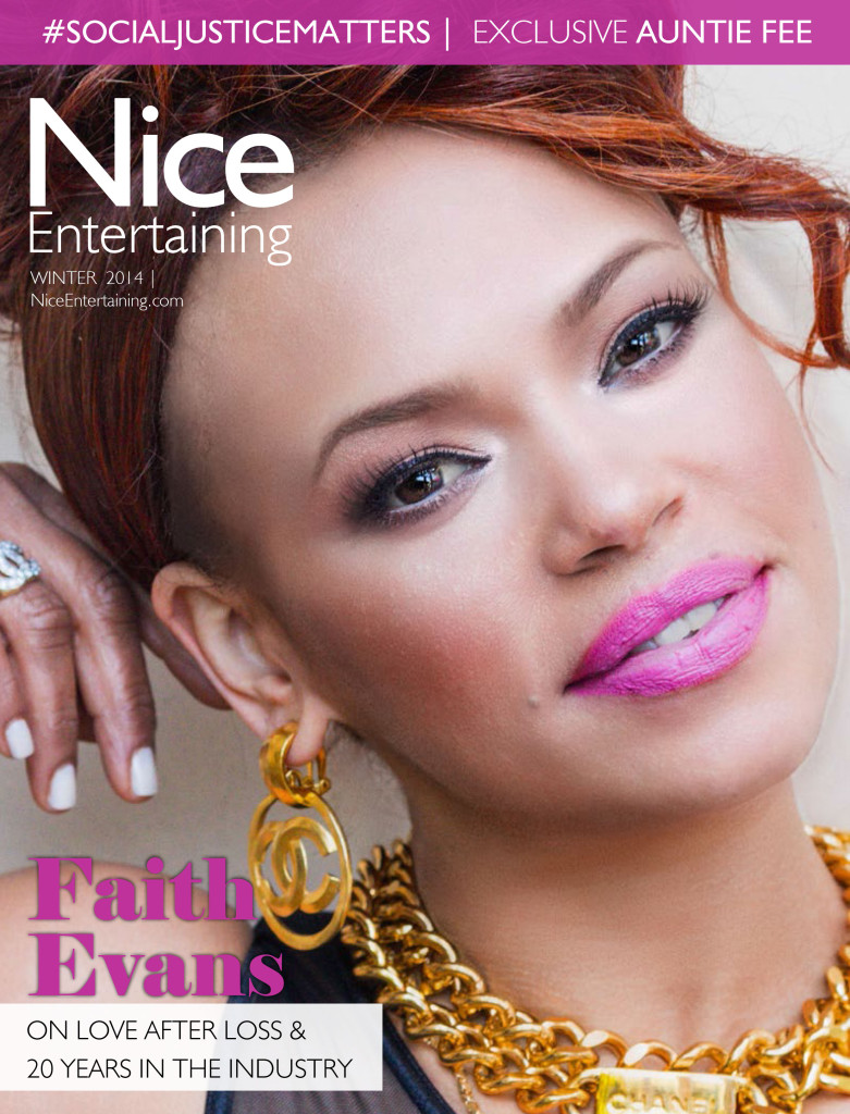 Nice Entertaining Magazine featuring Faith Evans