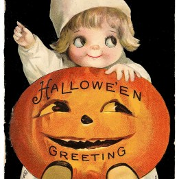 pumpkin card halloween vintage GraphicsFairy