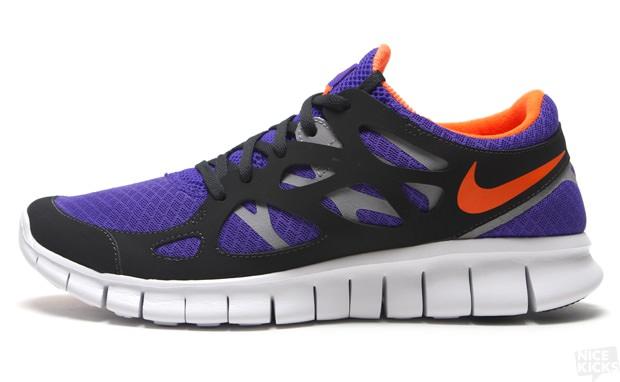 nouveau style a6eef c9512 Nike Free Run 2 Pure Purple/Total Orange | Nice Kicks