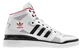 low priced 0b99b 78fc5 adidas Forum Mid Crazy Light White Black-Red