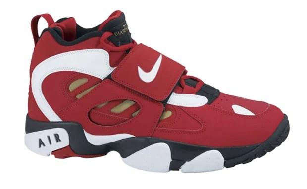 dea7009b81 Nike Air Diamond Turf II Varsity Red/Metallic Gold   Nice Kicks