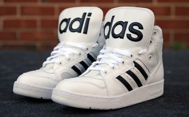 08d06eab2ce8 Jeremy Scott x adidas Instinct Hi White Black