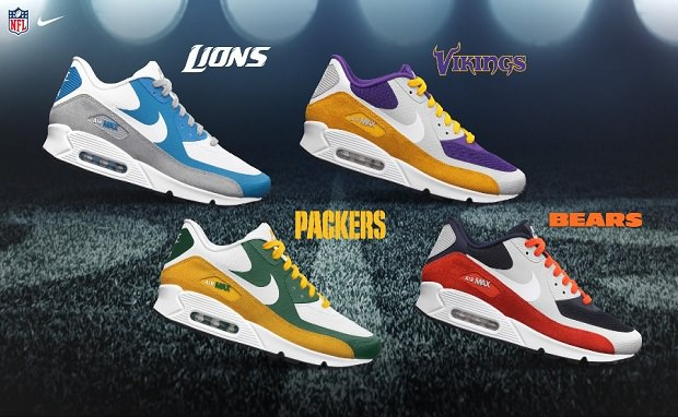 cheap for discount 233ee a2ee5 NFL x Nike Air Max 90 Premium  NFC North