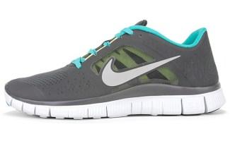 Nike Free Run+ 3 Anthracite/New Green