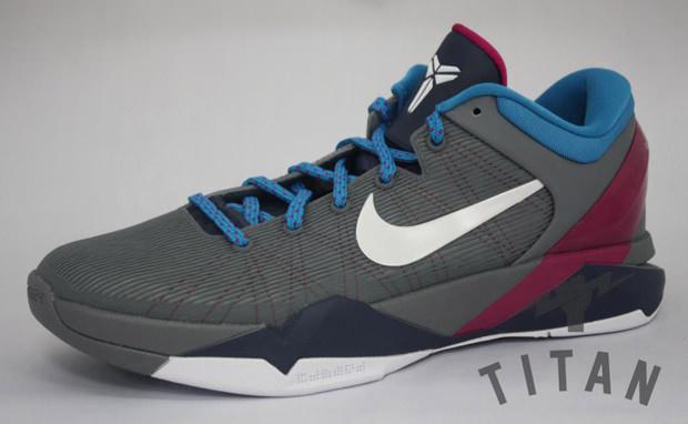 ed16406da4ef Nike Zoom Kobe VII Cool Grey Thunder Blue-Fireberry