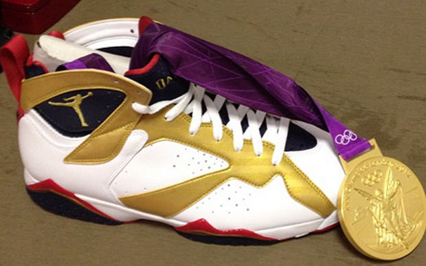 """100% authentic 3741a 9fe36 Air Jordan 7 """"Olympic Gold Medal"""""""