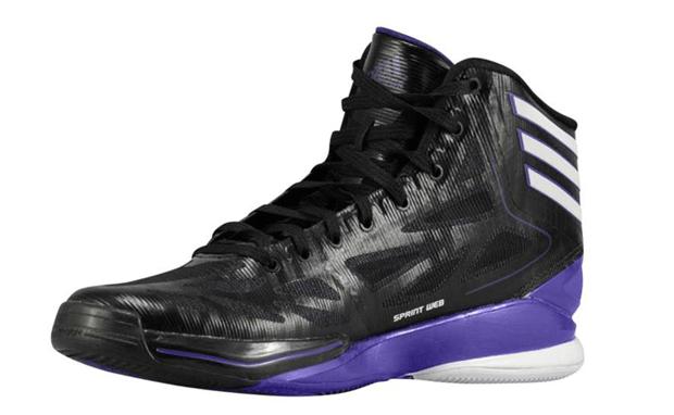 adidas adiZero Crazy Light 2 Black White-Regal Purple  6aafbd7b65