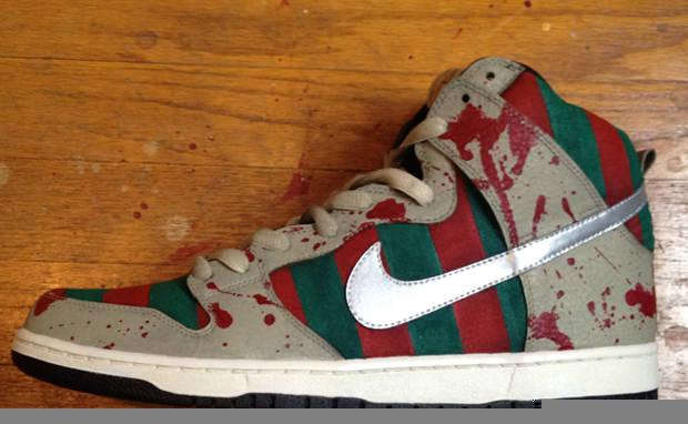 """super popular c291a 07dea Nike SB Dunk High """"Freddy"""" Custom"""