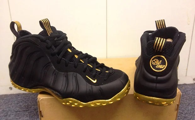 sports shoes f6824 a5134 Nike Air Foamposite One Black Gold Custom