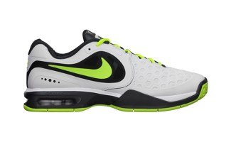 detailed look f8250 76492 Nike Air Max Courtballistec 4.3 White Volt-Anthracite ...
