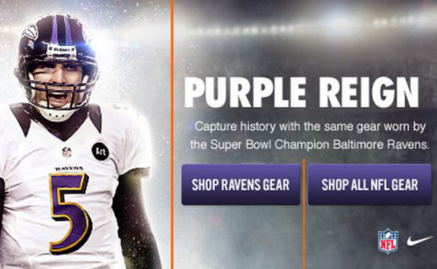 low priced f2412 7bba4 Official Nike Gear for Super Bowl Champion Baltimore Ravens ...
