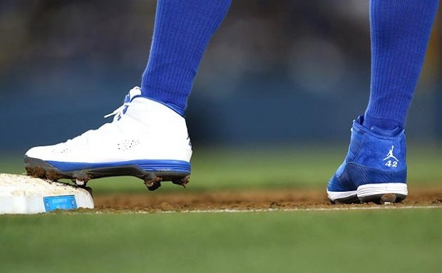 """fc84f7c39fbe MLB May Fine Carl Crawford for Wearing Mismatched Jordan 6 Rings """"42"""" PE  Cleats"""