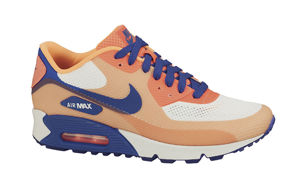 Nike WMNS Air Max 90 Hyperfuse Premium Hyper Blue Bright Citrus ... b6b01cdc5e
