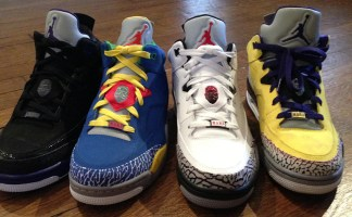 the best attitude 39c85 c33fc Jackson Lee Shares Look at Four Jordan Son of Mars Low Colorways