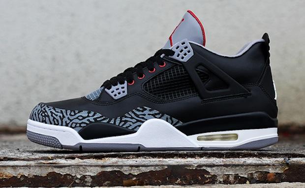size 40 a0d65 4f4d0 Air Jordan 4 Black Cement Custom