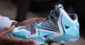 "size 40 bff8d b7cbd Live Look Nike LeBron 11 ""Gamma Blue"""