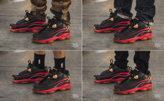 7653368e9c0 On-Foot Look  Reebok Answer I Black Red-Gold