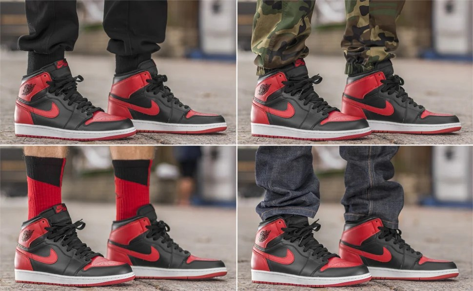 2229dd905bd3e On-Foot Look: Air Jordan 1 Hi Black/Red   Nice Kicks