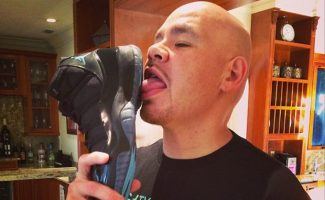 Air Jordan 11 Gamma Blues licked by Fat Joe