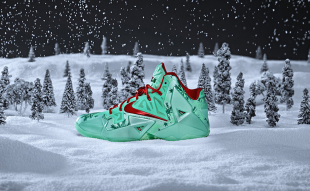 "new product 51734 0cdd2 Nike LeBron 11 ""Christmas"""
