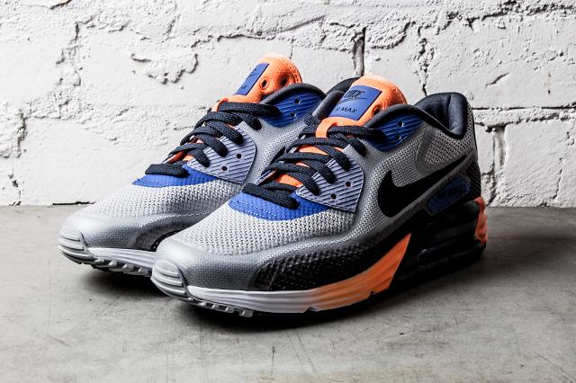 Nike Air Max Lunar90 Medium Grey Black Orange Blue