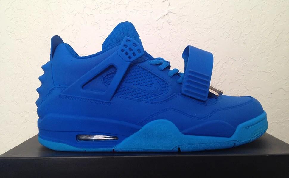 "Air Jordan 4 ""Blue December"" Yeezy Revelation Custom"
