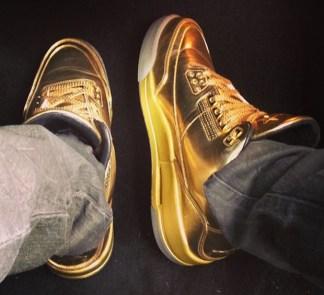 Air Jordan 3 Solid Gold for Usher