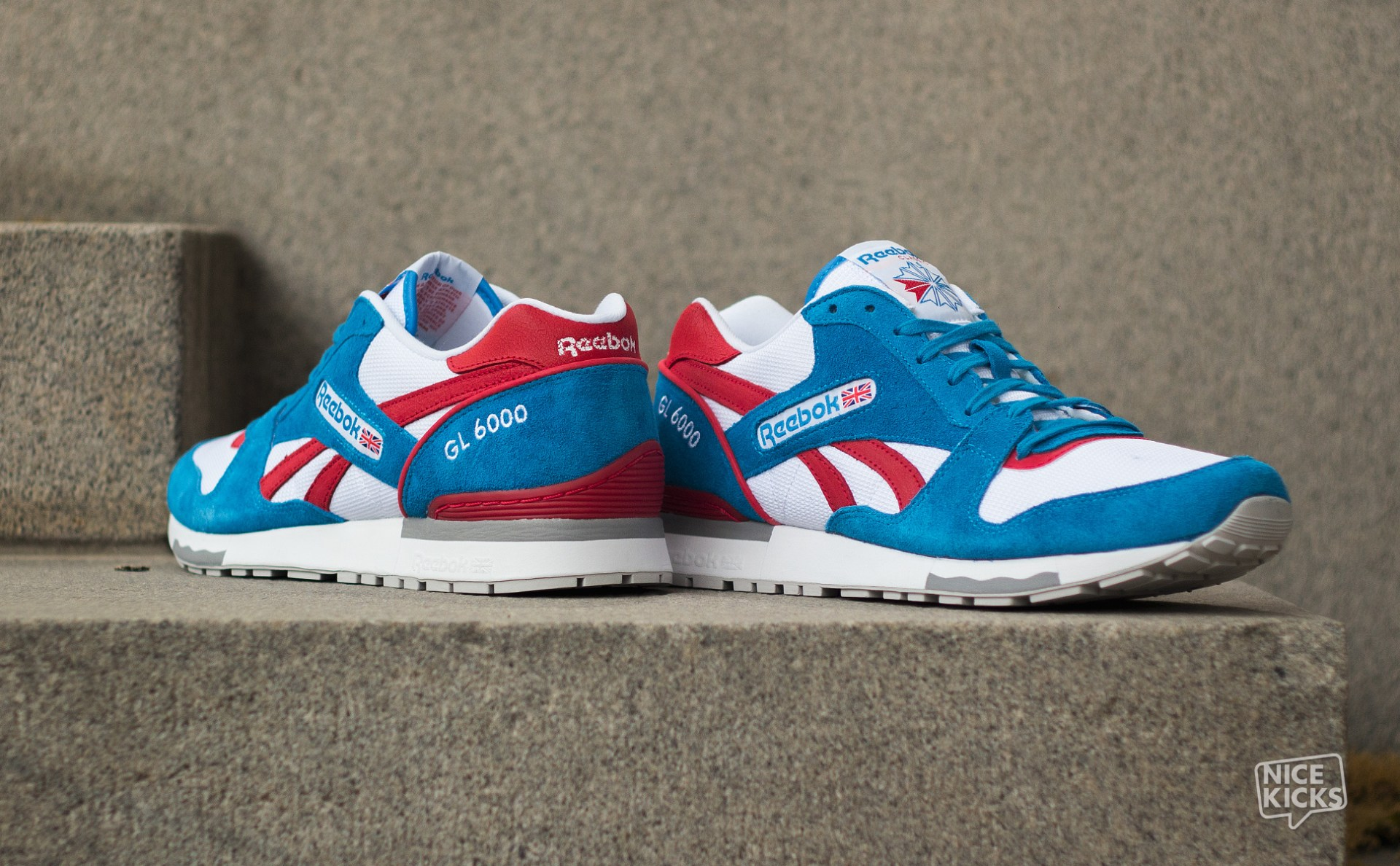 ab90d22f28e5fb Reebok GL6000 White Blue-Red Detailed Images