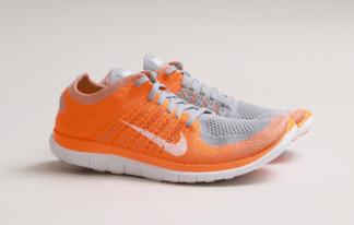 quality design b5dcf 73de8 Nike Free Flyknit 4.0 Wolf Grey Total Orange