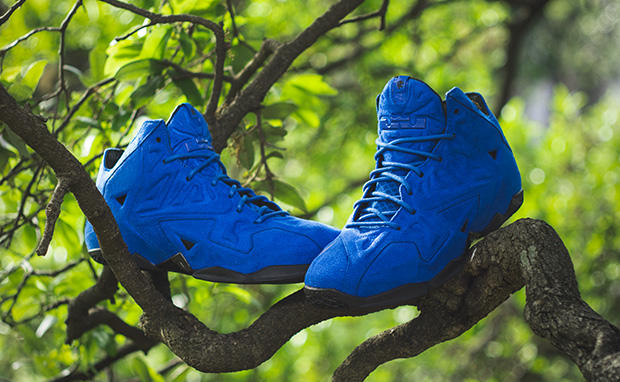"""low priced 0d218 1baec Weekly Wallpaper  Nike LeBron 11 EXT """"Blue Suede"""""""