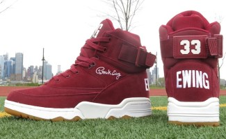 """huge selection of 58f8a 8b5f1 Ewing 33 Hi """"Burgundy Suede"""" Release Date"""