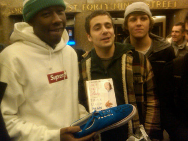 Tyler, the Creator with his Vans Authentic