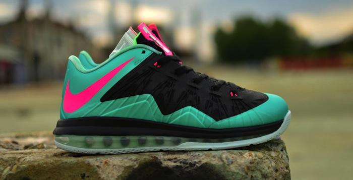 "new product 1ae8c 112b6 Nike LeBron X Low ""South Beach"" Custom"