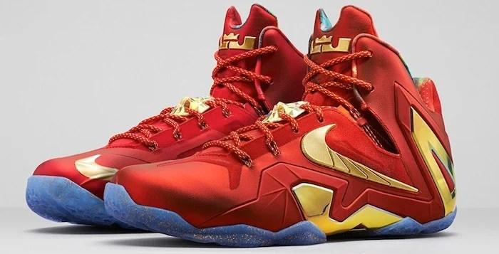 official photos 4e2bb c5bf5 Nike LeBron 11 Elite SE University Red Metallic Gold