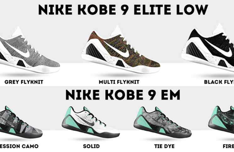 best cheap 92385 0dc74 Comparing the Nike Kobe 9 EM   Nike Kobe 9 Elite Low Options on NIKEiD