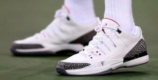 4a44b8c79047d Roger Federer debuts NikeCourt Zoom Vapor AJ3 by Jordan