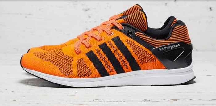 reputable site c4f5c 2d599 adidas Adizero Feather Primeknit OrangeBlack