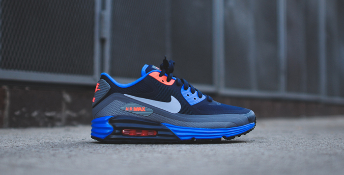 separation shoes d322b 8fbe2 Nike Air Max Lunar90 WR Obsidian Cool Grey-Hyper Cobalt