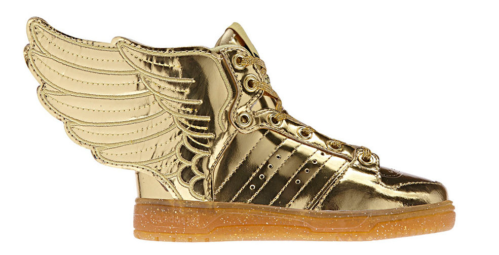 "uk availability 54f09 6c33e Jeremy Scott x adidas Wings 2.0 ""Gold"""