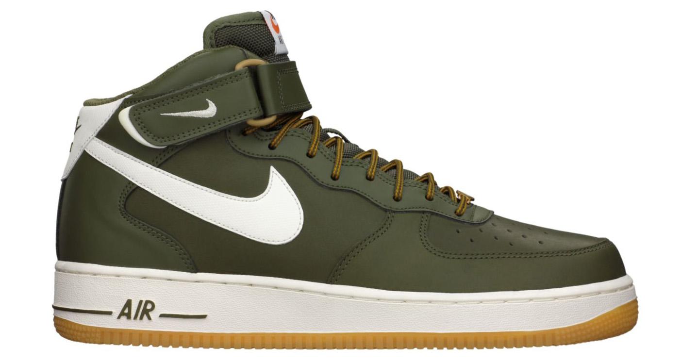 best service a4da5 368aa Nike Air Force 1 Mid OliveGum