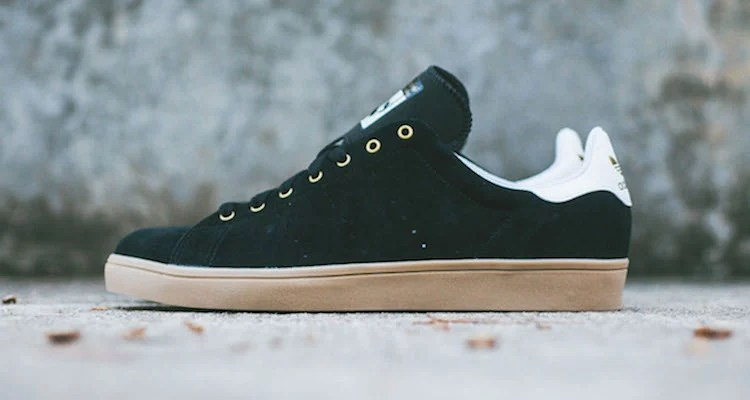 buy online d14de a8179 reduced adidas skateboarding stan smith vulc black gum nice kicks cef94  d2468