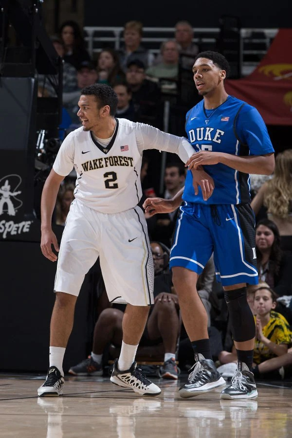 Duke's Jahlil Okafor in the Nike LeBron 10 Prisim