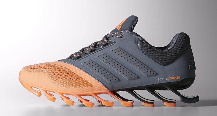 adidas donne springblade guidare grey / flash orange belle scarpe