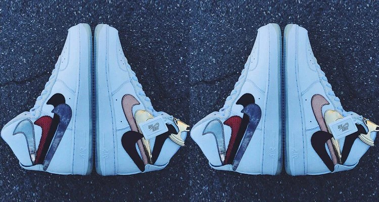 """on sale fdde2 049b0 John Geiger s """"Misplaced Checks"""" Custom Nike Air Force 1 High Is Coming Out"""