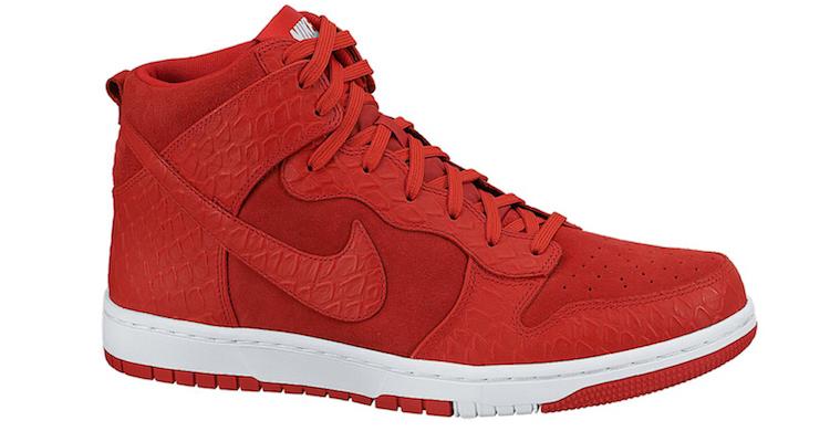 "best cheap dece1 ea788 Nike Dunk High CMFT Premium ""Python"" Red"