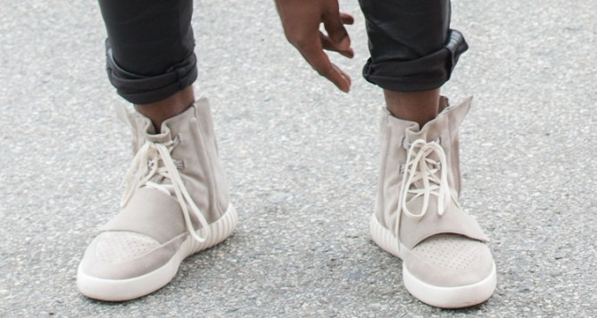 A Detailed Look at the adidas Yeezy 750 Boost on Kanye West