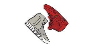 Yeezy vs Yeezy Prints by KickPosters