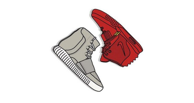 Yeezy vs Yeezy Prints by KickPosters