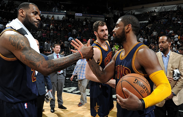 622cc5fa488d1 LeBron James and Kyrie Irving Celebrate NBA Green Week with Sneakers ...