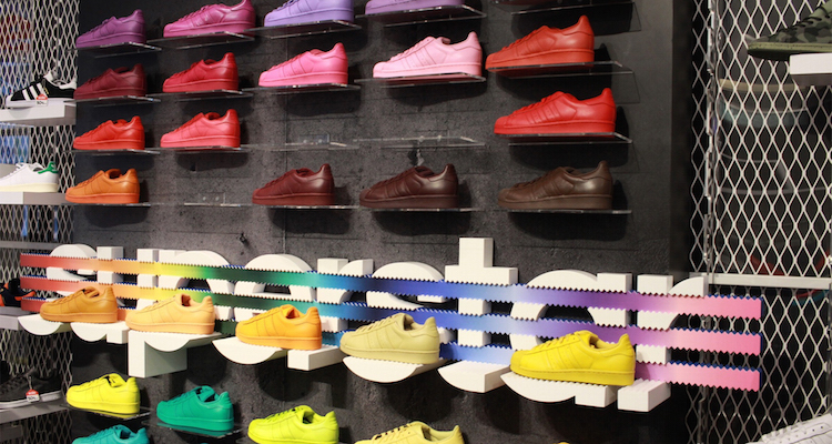 "eeadcb67d9e Peep a Look at the Pharrell x adidas Superstar ""Supercolor"" Collection  Release in NYC"
